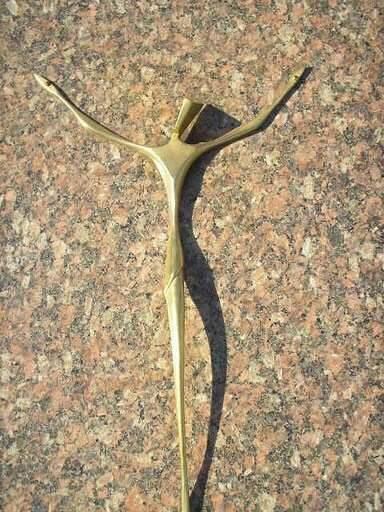 Cristo de Bronze Estilizado 30cm - Fundição Campo Belo - Ornamentos para Tumulo