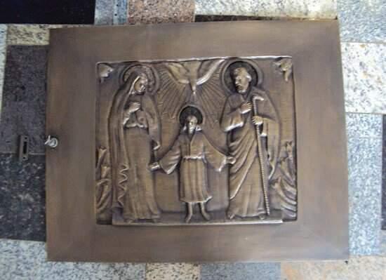 Portão de Bronze Religioso Família Jesus