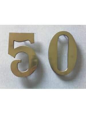 Número de Bronze Pequeno 20x20 - Fundição Campo Belo - Placas Residenciais