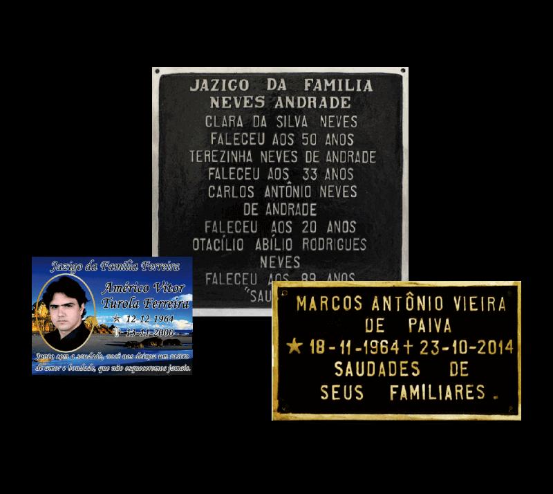 Placa para Tumulo - Fundição Campo Belo - Placas de Metal
